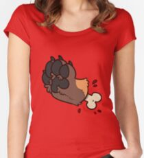 Red Fox Paw Gore Women's Fitted Scoop T-Shirt