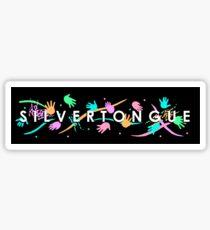 Silvertongue (vertical) Sticker