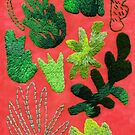 tropical leaves embroidered pattern by embroiderrred