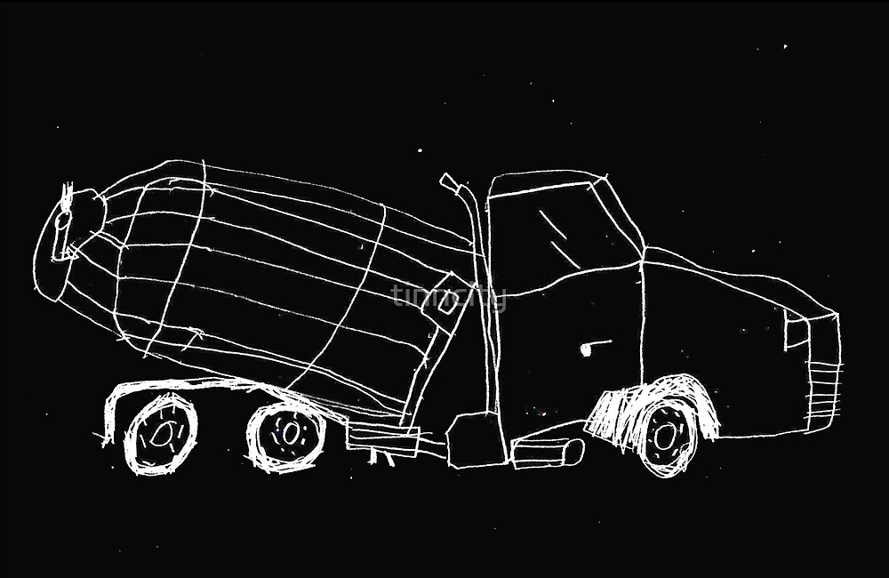 a cement mixer drawn by a kid by tinncity