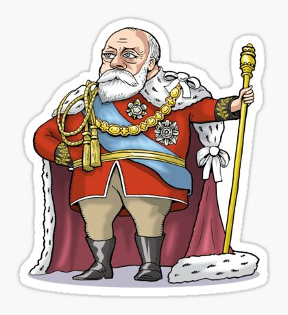 King Edward VII Sticker