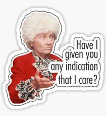 Do I Care?  Sticker