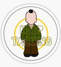 Keep Talking - Taxi Driver Sticker