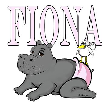 Fiona the Baby Hippo in Diapers by Hippogal