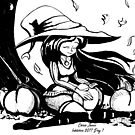 INKTOBER 31 Witches: Fall Witch  by Chris Jaser