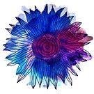 Watercolour and Ink Flower Mandala by Anastasiia Kucherenko