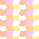 Mermaid Scales Orange/Purple/White by Jessica Slater