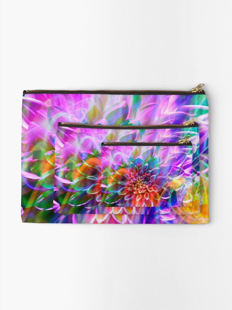 """Alternate view of """"Crosshairs of a Perpetual Doppler Shift"""" Zipper Pouch"""