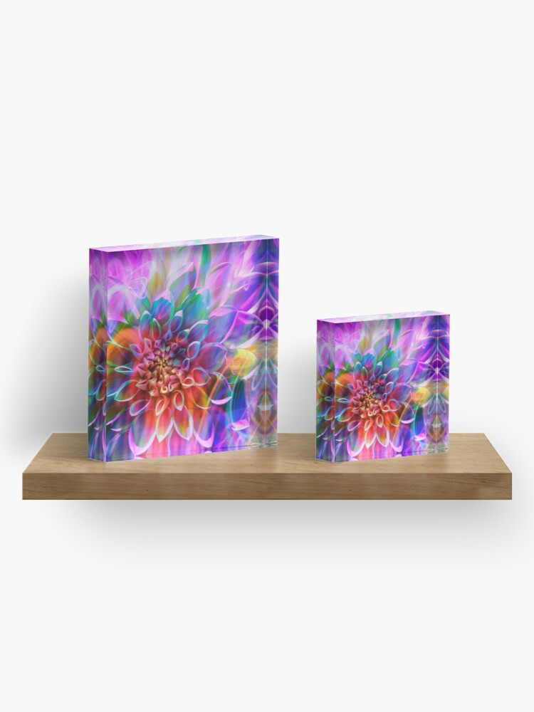 """Alternate view of """"Crosshairs of a Perpetual Doppler Shift"""" Acrylic Block"""