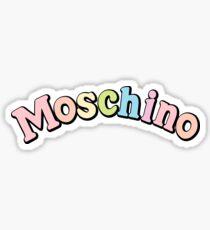 moschino my little pony pastel Sticker