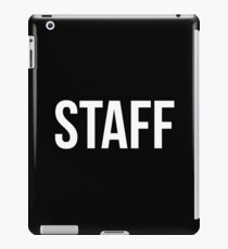 Staff Black iPad Case/Skin