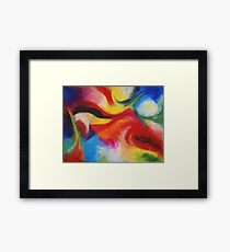"""""""Fiesta Nocturna"""" original abstract landscape by Laura Tozer Framed Print"""