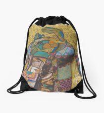 Girl with Bluebirds Drawstring Bag