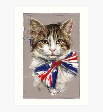 Larry The Cat - Chief Mouser of The Cabinet Office Art Print