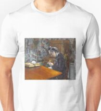 Mademoiselle Boissiere Knitting by Gustave Caillebotte Unisex T-Shirt