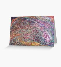 """""""Entanglement No.2"""" original abstract artwork by Laura Tozer Greeting Card"""