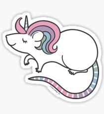 Pretty Rat Unicorn Sticker