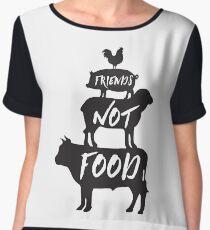 Friends Not Food Women's Chiffon Top