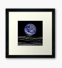 Earthrise, Lunar Earth rise on the Moon Framed Print