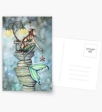 Mermaid's Perch Fantasy Mermaid Art by Molly Harrison Postkarten