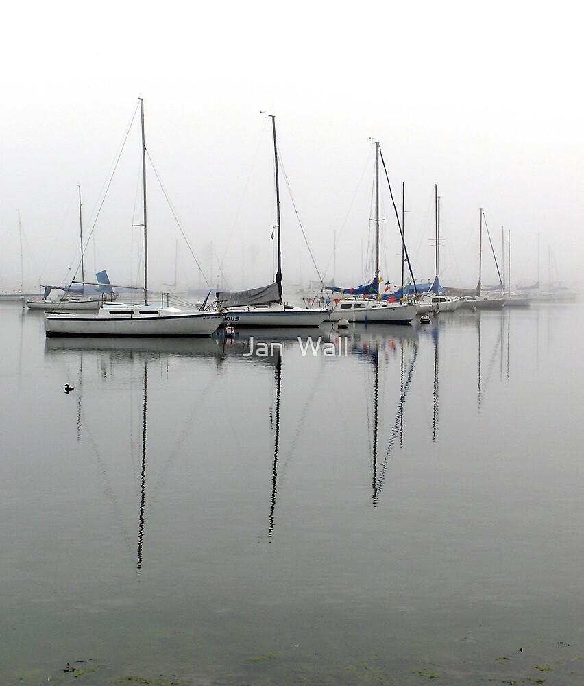 Sailboat Reflections by Jan  Wall