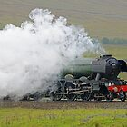 Flying Scotsman At The Ribblehead Viaduct 3 by Colin  Williams Photography