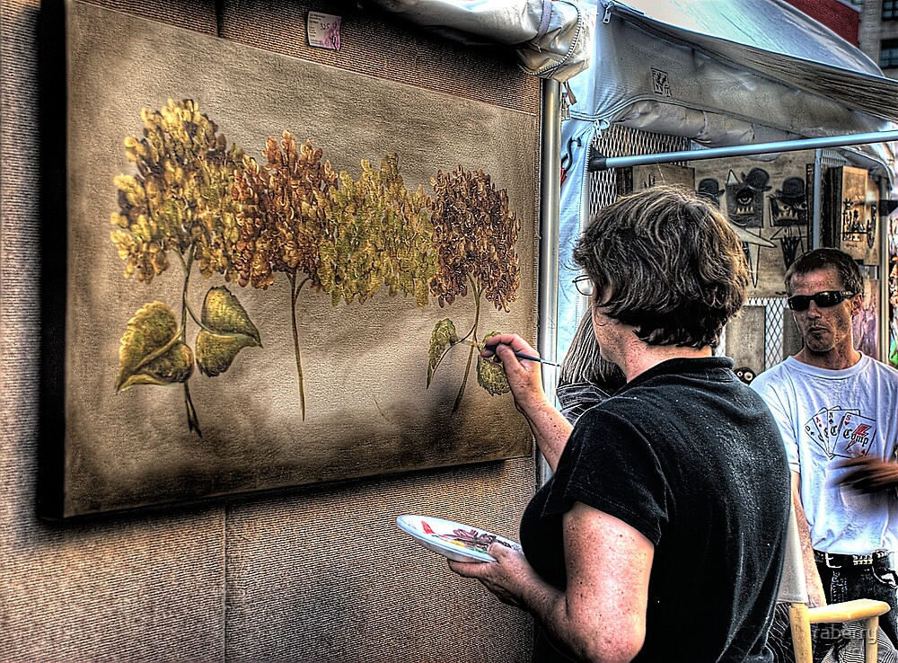 Street Fair Painter by raberry