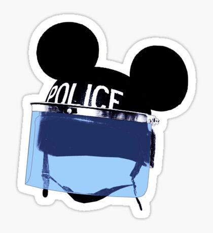 RIOT mickey (Are you a man or a mouse) Sticker