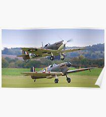 Spitfire Scamble Duxford Poster