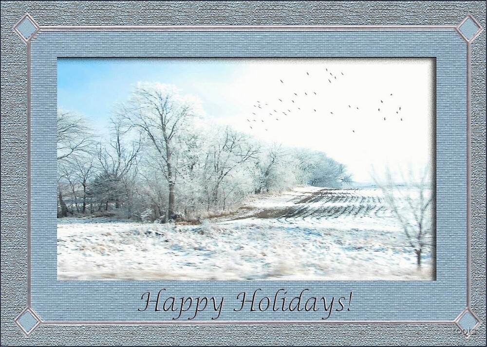 Gorgeous Snow Scape, Happy Holidays by toots