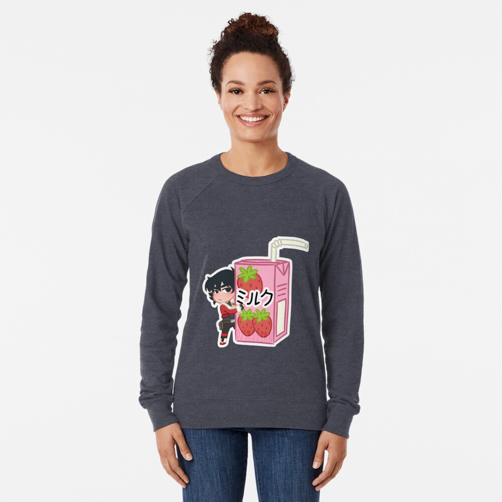 Strawberry Milk Lightweight Sweatshirt