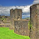 Castles of Wales - Welsh Castle, Caerphilly Castle by Remo Kurka