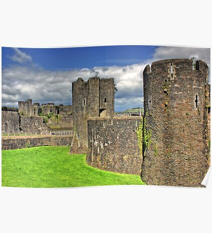 Castles of Wales - Welsh Castle, Caerphilly Castle Poster