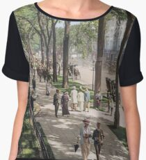 Broadway In Saratoga Springs Painting Women's Chiffon Top