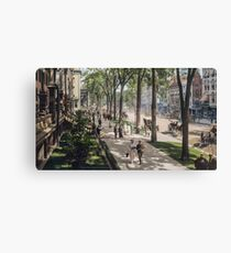 Broadway In Saratoga Springs Painting Canvas Print