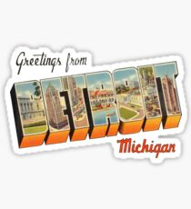 Greetings from Detroit, Michigan 1 Sticker