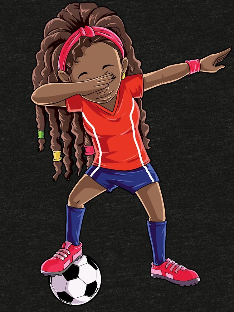 b680c4cef Soccer Dabbing Girl Dab Dance T shirt Funny Football Tee