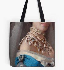 Royal jewels on a Danish princess historical fashion iPad case, skin Tote Bag