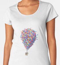 Camiseta premium de cuello ancho ARRIBA