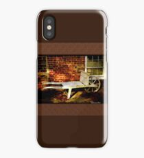 An Old Wheelbarrow, An Ancient House iPhone Case