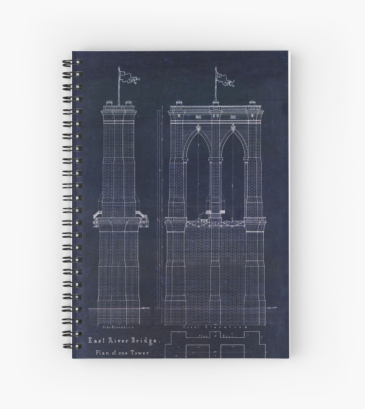 Antique blueprint of the brooklyn bridge east river bridge antique blueprint of the brooklyn bridge east river bridge by glimmersmith malvernweather Image collections