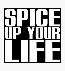 Spice Up Your Life (white) Photographic Print