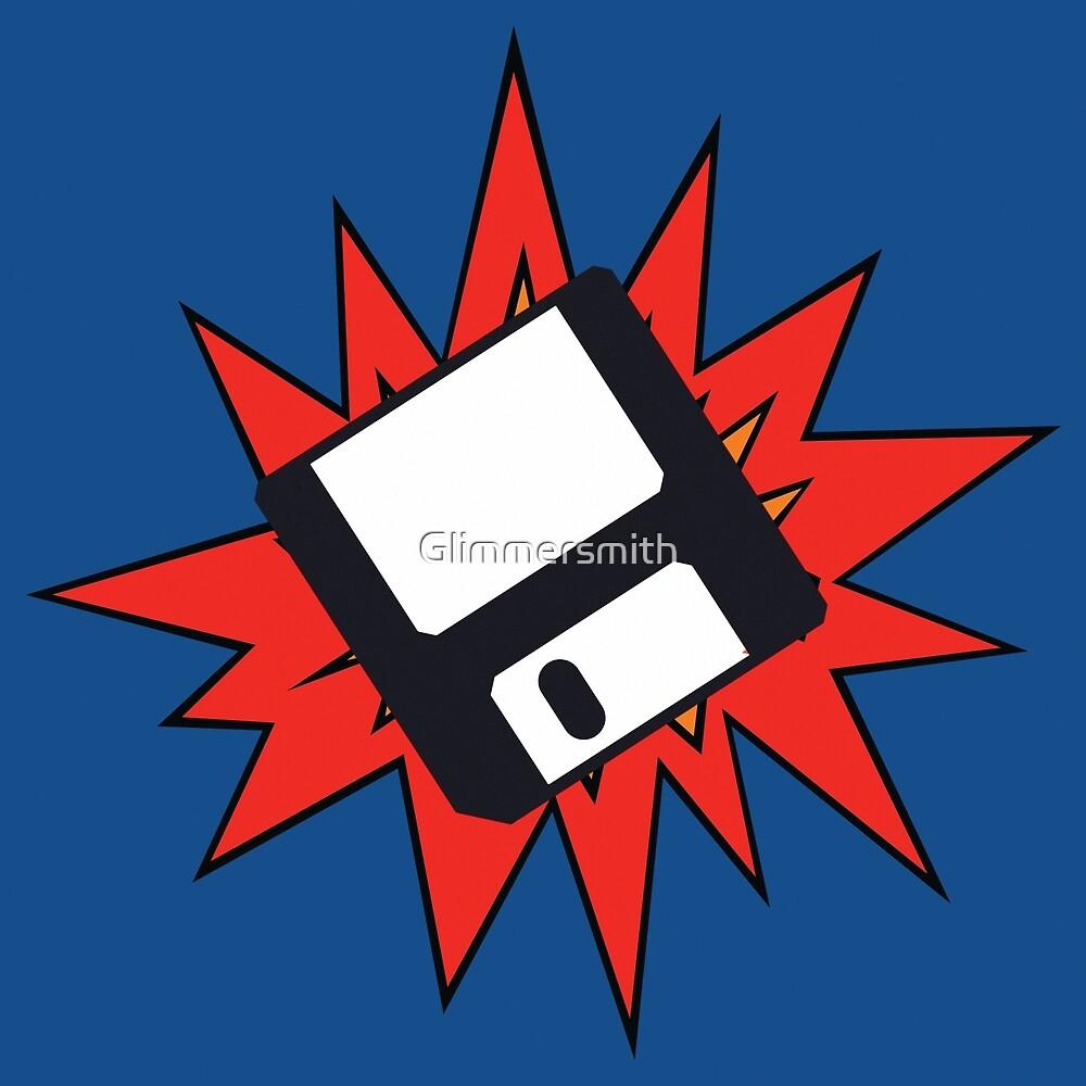 Dynamic Retro Floppy Disc old skool tech art by Glimmersmith