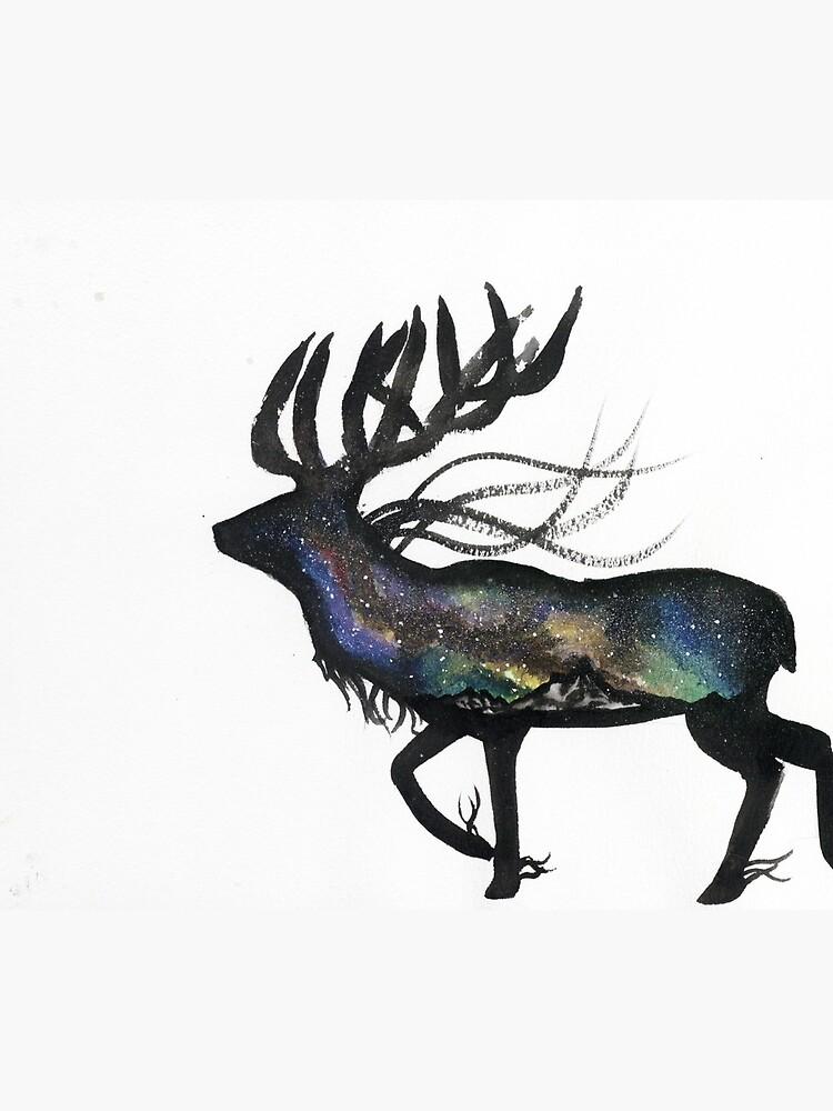 Beautiful Galaxy Stag. by creaturesofnat