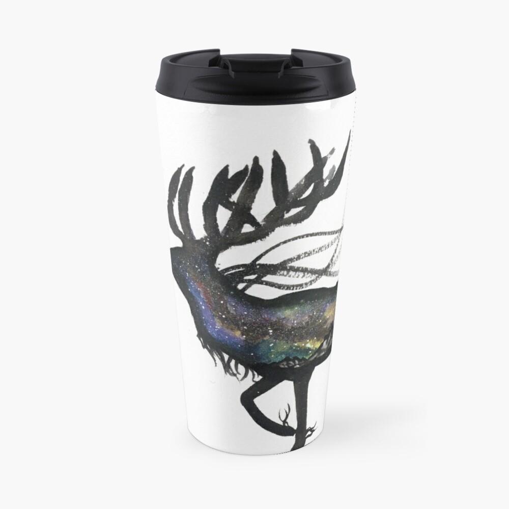 Beautiful Galaxy Stag. Travel Mug