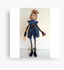 Water Spirit Nature Girl - art doll figurative sculpture  Canvas Print