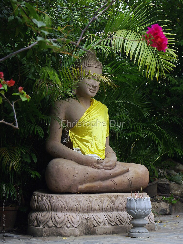 Bouddha - Cambodia by Christophe Dur