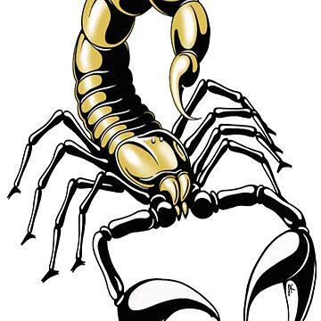 scorpion - gold - yellow by Felixsc