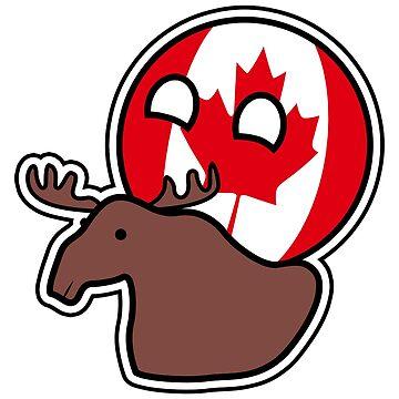 Canadaball - riding Moose, Countryball / Polandball by poland-ball