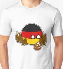 Germanyball Polandball Countryball w/ Beer and Pretzels Unisex T-Shirt